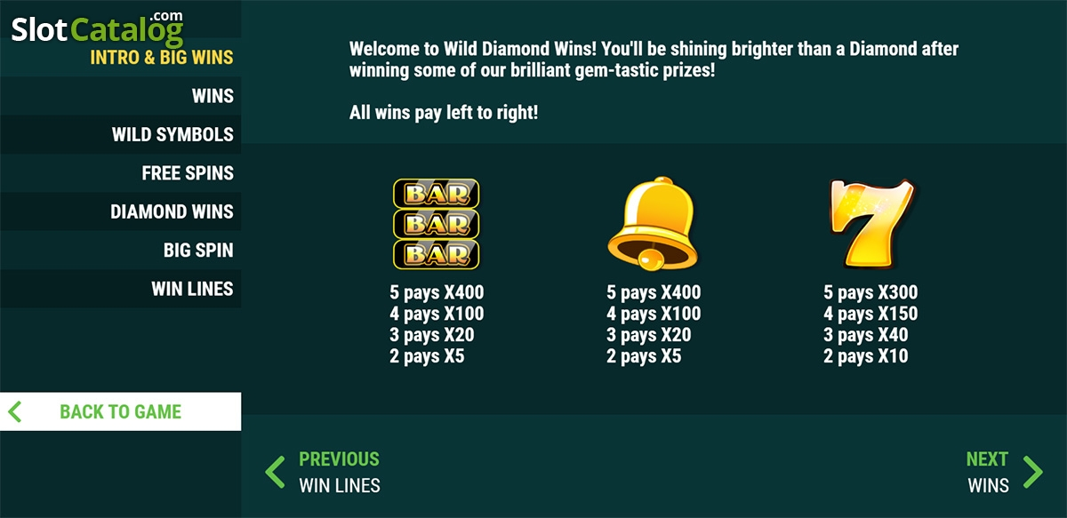 Review the Diamond Wild Slots with No Download
