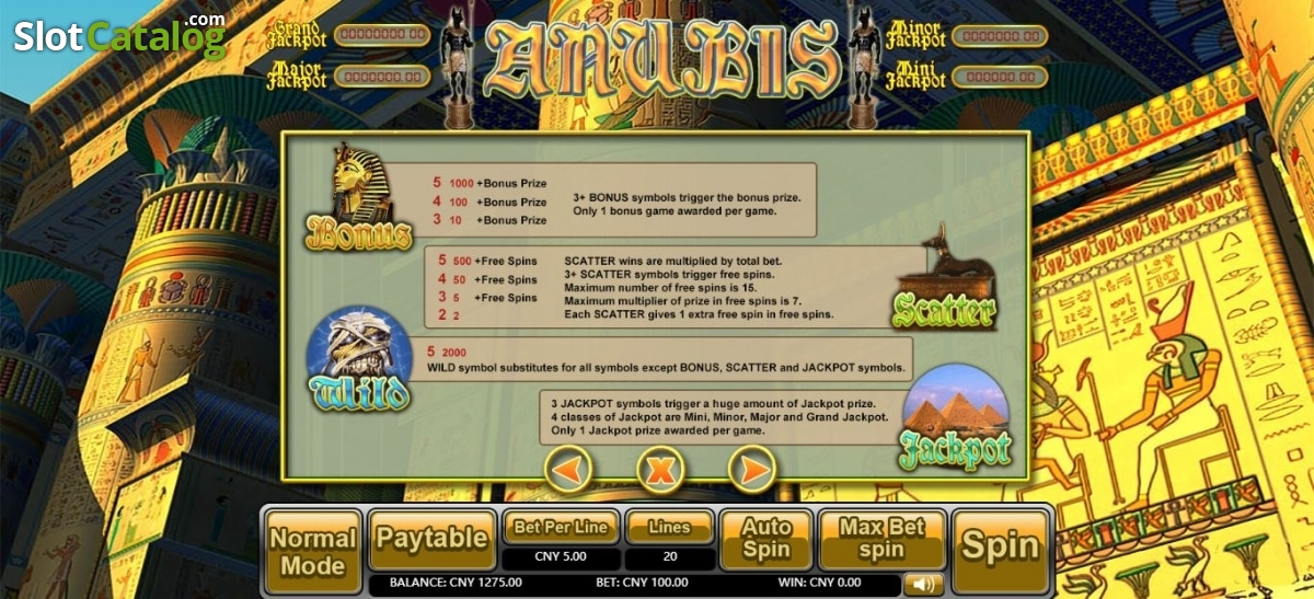 Anubis (Aiwin Games) Slot Review, Bonus Codes & where to play from United  Kingdom