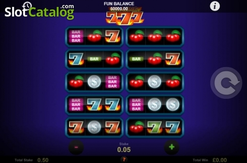 Skjerm2. Blazing Sevens (Video Slot fra 1X2gaming)