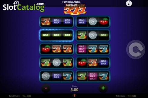 Skjerm3. Blazing Sevens (Video Slot fra 1X2gaming)