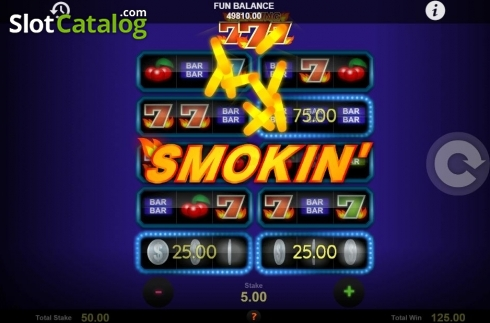 Skjerm4. Blazing Sevens (Video Slot fra 1X2gaming)