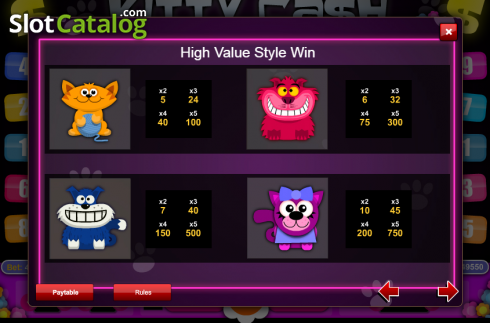 Screen3. Kitty Cash (Video Slot from 1X2gaming)