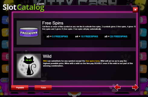 Screen4. Kitty Cash (Video Slot from 1X2gaming)