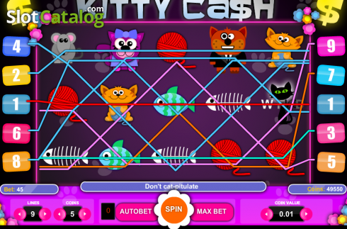 Screen5. Kitty Cash (Video Slot from 1X2gaming)