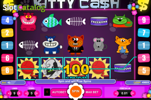 Screen6. Kitty Cash (Video Slot from 1X2gaming)