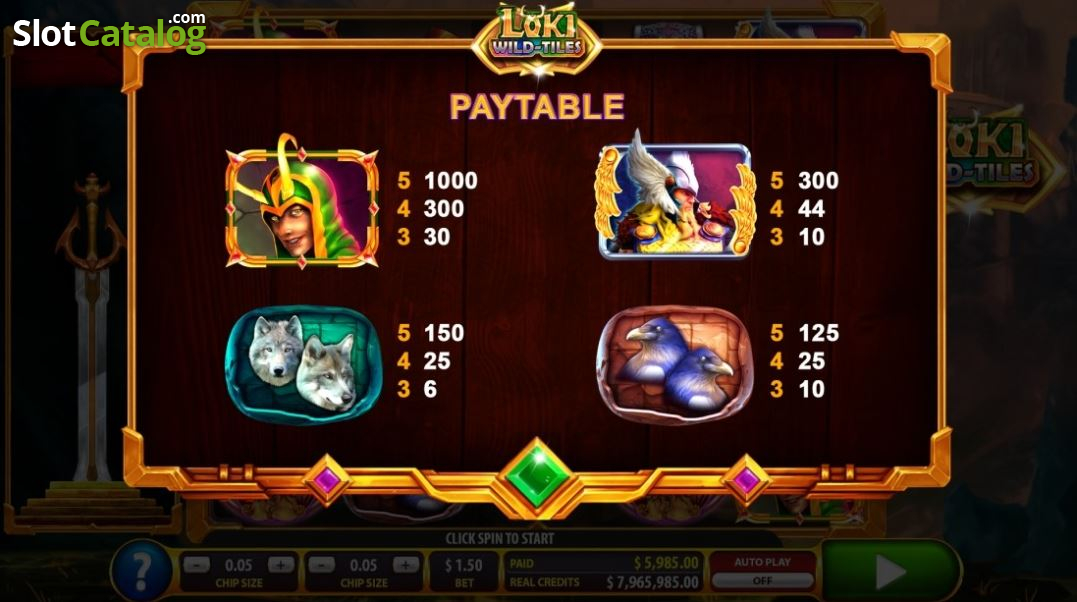 Spiele Loki Wild Tiles (2BY2 Gaming) - Video Slots Online