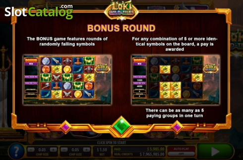 Features 3. Loki Wild Tiles (2BY2 Gaming) (Video Slots from 2by2 Gaming)