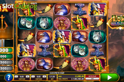 Reel Screen. Loki Wild Tiles (2BY2 Gaming) (Video Slots from 2by2 Gaming)