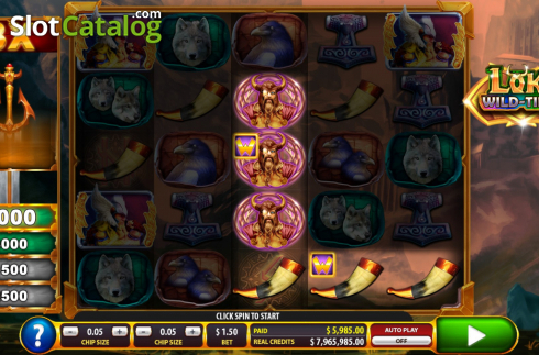 Win screen 1. Loki Wild Tiles (2BY2 Gaming) (Video Slots from 2by2 Gaming)