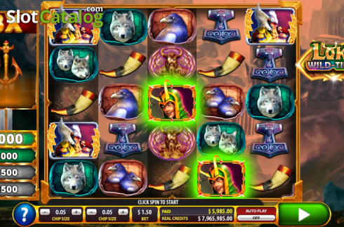 Win screen 2. Loki Wild Tiles (2BY2 Gaming) (Video Slots from 2by2 Gaming)