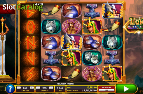 Bonus win screen. Loki Wild Tiles (2BY2 Gaming) (Video Slots from 2by2 Gaming)