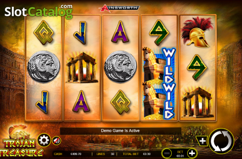 1. képernyő. Trojan Treasure (Video Slot tól től Ainsworth)