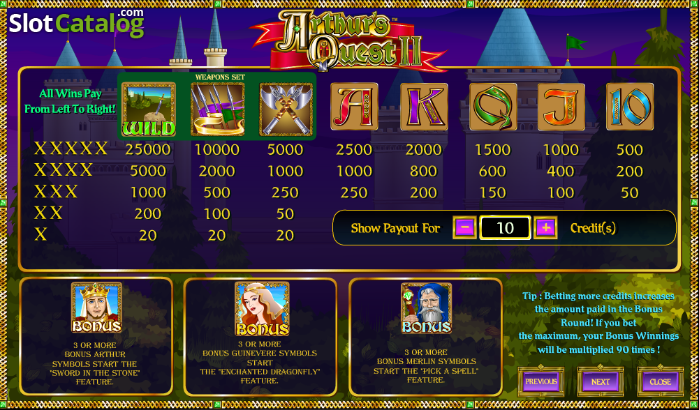 Quest of Kings Slot - Play this Game by Amaya Online