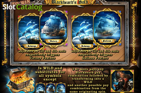 Screen2. Blackbeard's Gold (Video Slot from Amaya)