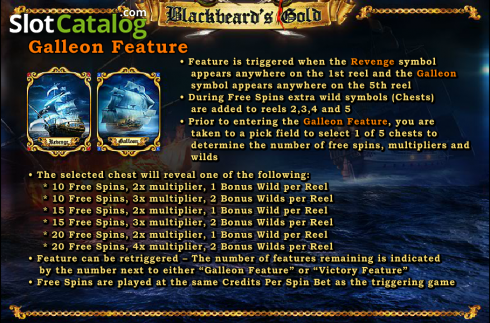 Screen5. Blackbeard's Gold (Video Slot from Amaya)