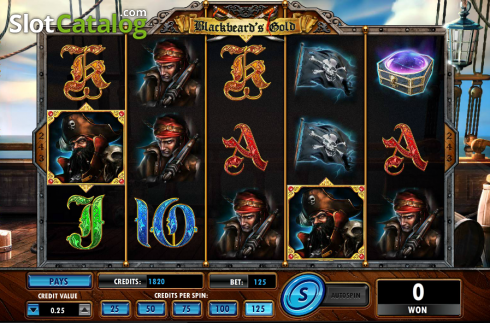 Screen6. Blackbeard's Gold (Video Slot from Amaya)