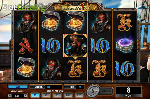 Screen7. Blackbeard's Gold (Video Slot from Amaya)