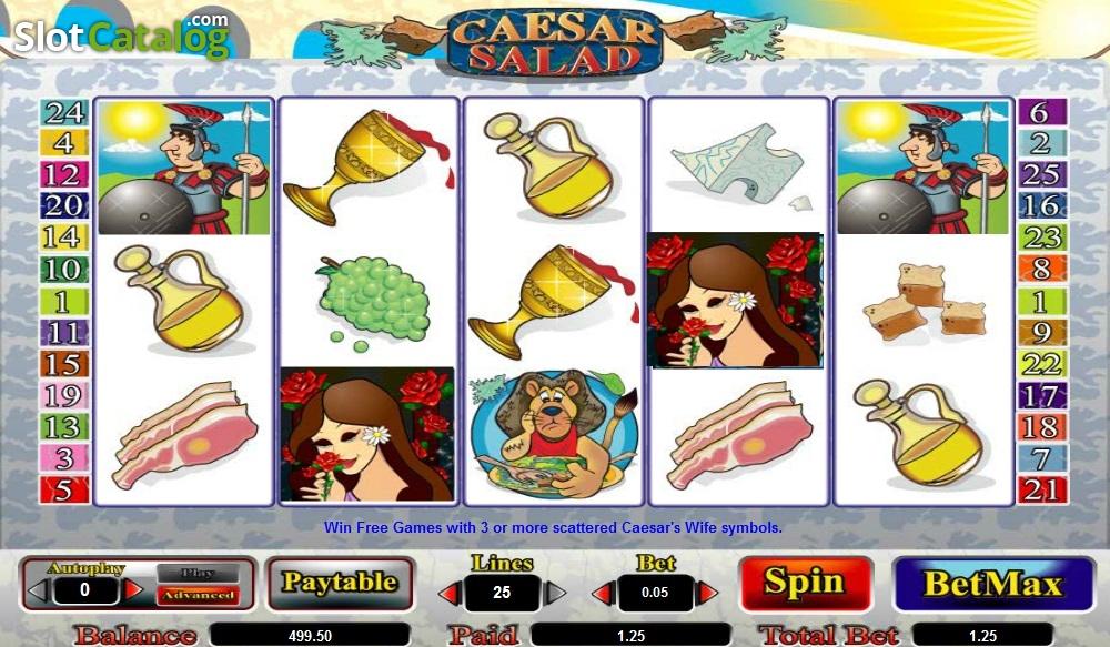 Caesar Salad Slot Machine - Play Free Amaya Slots Here
