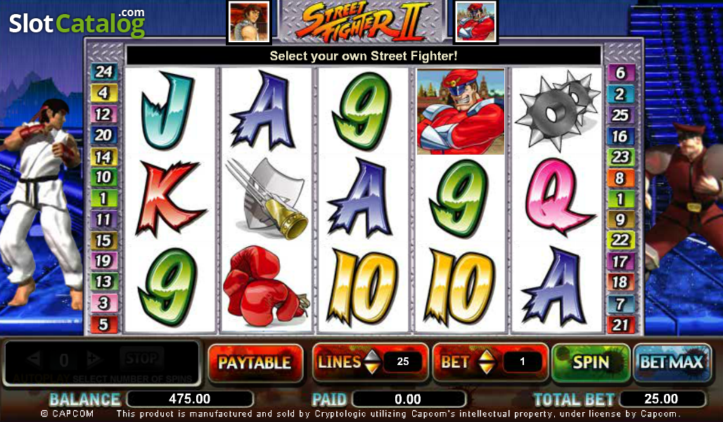 Street fighter 2 arcade machine