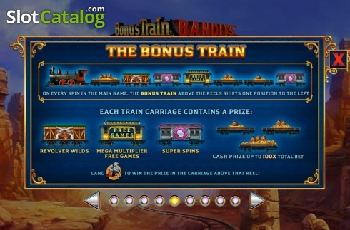 Features 1. Bonus Train Bandits (Video Slot from Ash Gaming)