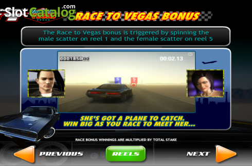 Screen5. Jackpot GT Race to Vegas (Video Slots from Ash Gaming)