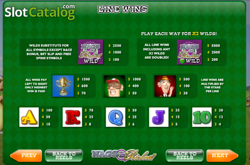 Screen9. Nags to Riches (Video Slot from Ash Gaming)