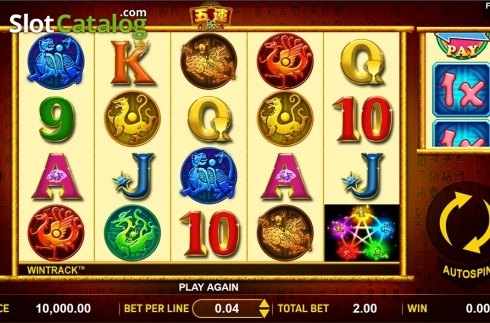 Reels screen. 5 Lucky Elements (Video Slot from Aspect Gaming)