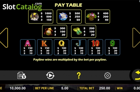 Paytable . Ba Xian Chuan Qi (Video Slot from Aspect Gaming)