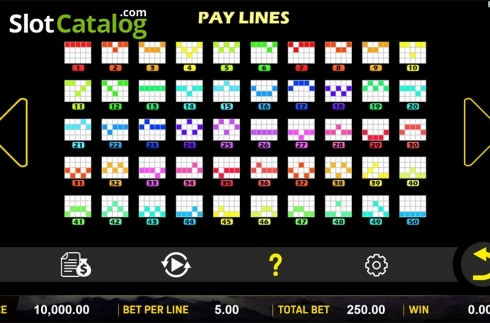 Paytable 4. Ba Xian Chuan Qi (Video Slot from Aspect Gaming)