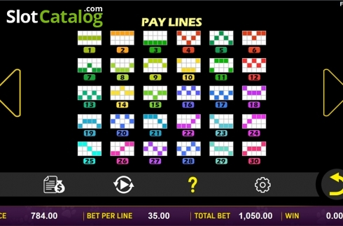 Paytable 5. Doggone Lucky (Video Slot from Aspect Gaming)