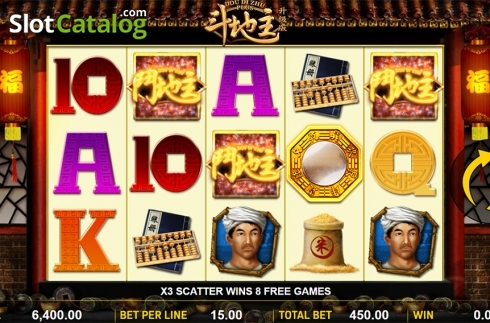 Schermo5. Dou Di Zhu Plus (Video Slot a partire dal Aspect Gaming)
