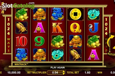 Reels screen. Eternal Fortune (Video Slot from Aspect Gaming)