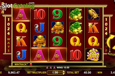 Win screen. Eternal Fortune (Video Slot from Aspect Gaming)