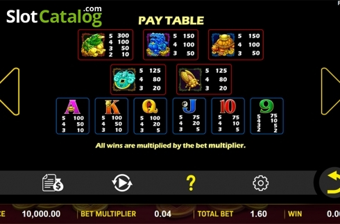 Paytable . Eternal Fortune (Video Slot from Aspect Gaming)