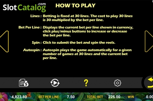 Paytable 5. Jungle Treasure (Aspect Gaming) (Video Slot from Aspect Gaming)
