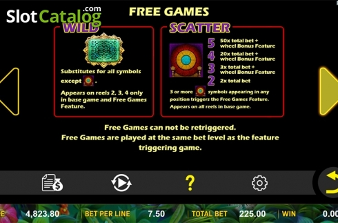 Paytable 2. Jungle Treasure (Aspect Gaming) (Video Slot from Aspect Gaming)