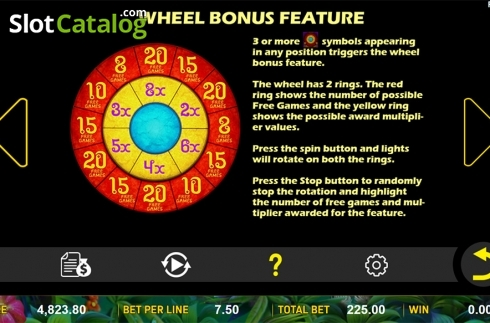 Paytable 3. Jungle Treasure (Aspect Gaming) (Video Slot from Aspect Gaming)