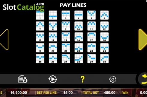Paytable 3. Zombie's Fortune (Video Slots from Aspect Gaming)