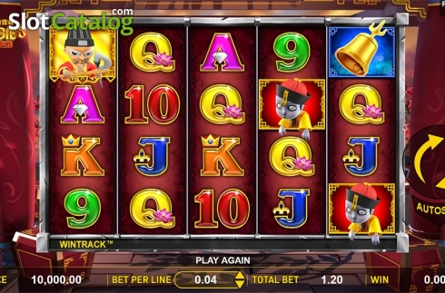 Reels screen. Zombie's Fortune (Video Slots from Aspect Gaming)