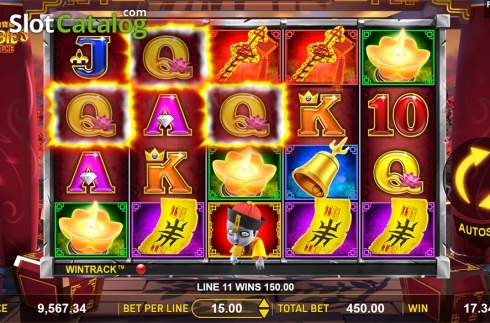 Win screen . Zombie's Fortune (Video Slots from Aspect Gaming)