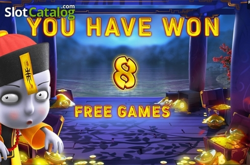 Free game intro screen. Zombie's Fortune (Video Slots from Aspect Gaming)