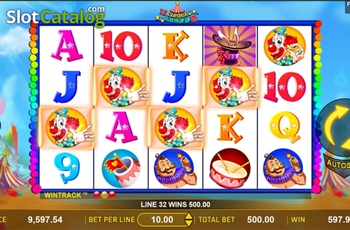 Win screen 2. Le Cirque (Video Slot from Aspect Gaming)