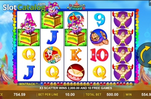 Scatter symbol screen . Le Cirque (Video Slot from Aspect Gaming)