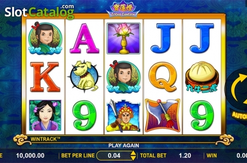 Reels screen. Lotus Lantern (Video Slot from Aspect Gaming)