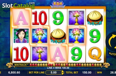 Win screen 3. Lotus Lantern (Video Slot from Aspect Gaming)
