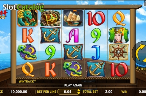 Reels screen . Mazu (Video Slot from Aspect Gaming)