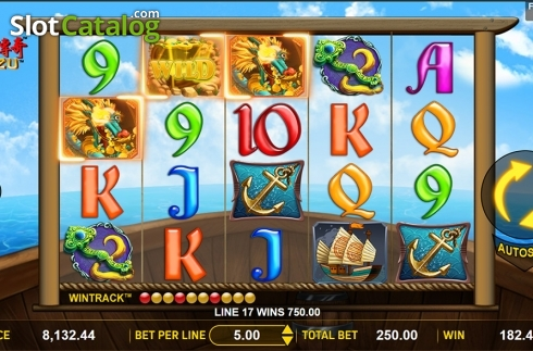 Win screen. Mazu (Video Slot from Aspect Gaming)