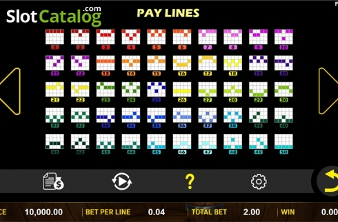 Paytable 4. Mazu (Video Slot from Aspect Gaming)