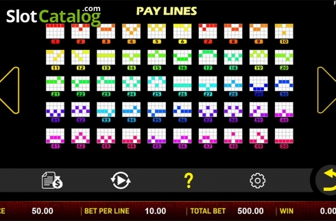 Paytable 3. Sheng Xiao Chuan Qi (Video Slot from Aspect Gaming)