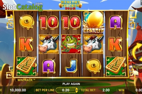 Schermo2. Wealthy Chicken (Video Slot a partire dal Aspect Gaming)